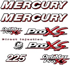 Decal Proz Mercury Outboard ProXS Series Compatible with Mercury 225 HP Red