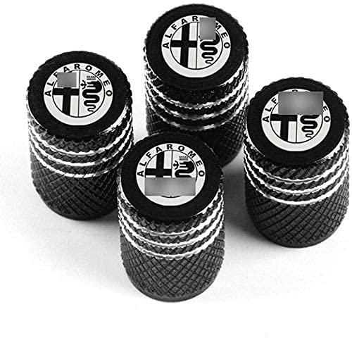 4 tapas de válvula de metal para rueda de coche, para al-FA