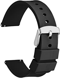 WOCCI Silicone Watch Bands - Quick Release Soft Rubber Replacement Straps (14mm 18mm 20mm 22mm 24mm)
