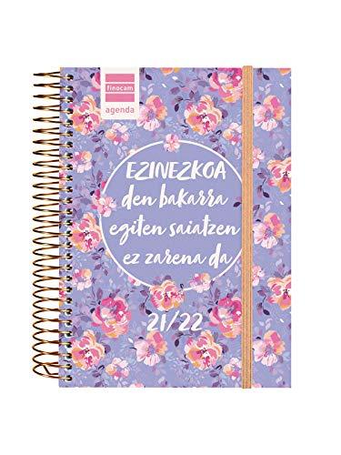Finocam Agenda 2021 2022 1 Día página Septiembre 2021, Junio 2022 10 meses y Julio/Agosto resumidos 8º, 120x164 Secundaria Imposible Euskera
