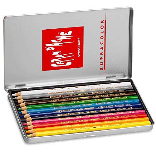 CREATIVE ART MATERIALS Caran D'ache Supracolor Metal Box Set Of 12 (3888.312)