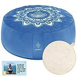 OVERMONT Cojín de Yoga Zen Meditación Redondo...