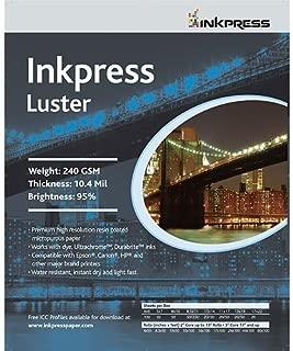 Inkpress Luster, Single Sided Inkjet Paper, 240gsm, 10.4 mil., 4