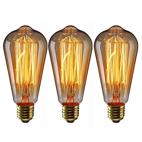 Edison LED Bulb E27 Filament Vintage Incandescent Light Bulb 40W ST64 Retro...