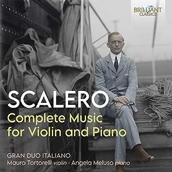 Scalero: Complete Music for Violin and Piano