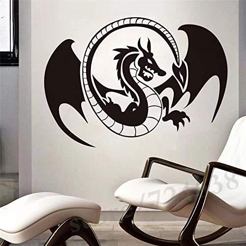 WERWN Pegamento Creativo Enorme Fresco de la decoración del hogar de Las Etiquetas engomadas de la Pared del dragón de los niños