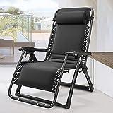 KINGBO Oversized Zero Gravity Chair, Lawn Recliner, Reclining Patio Lounger...