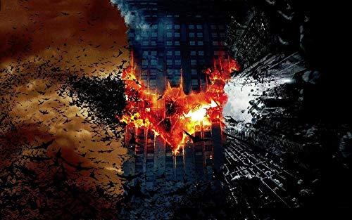 XHXYTSM Rompecabezas para adultos y niños 1000 piezas Póster Batman Trilogy Tangram de lógica de madera Super duro clásico Ocio y entretenimiento Juegos familiares Regalo creatividad