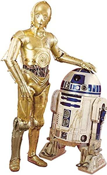 10 Inch C 3PO R2 D2 Droid C3PO R2D2 BB8 Droids Star Wars Episode IV 4 A New Hope Removable Wall Decal Sticker Art Home Decor Kids Room 9 3 4 Inches Wide By 6 Inches Tall