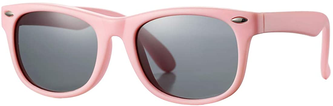 Kids Polarized Sunglasses TPEE Rubber Flexible Shades for Girls Boys Age 3-9