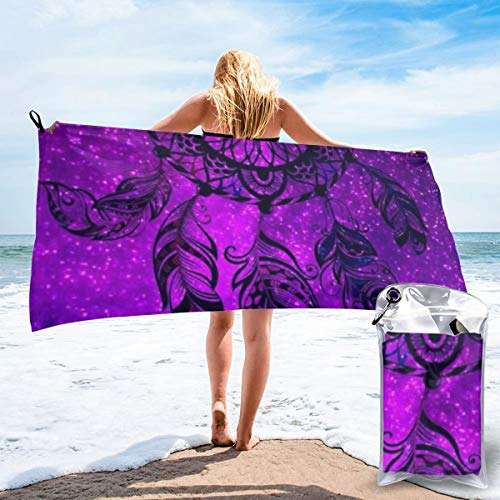 Gggo Best Dreamcatcher Quick Dry Beach Towels Super Absorbent Travel Towels Microfiber Bath Towel for Camping Sports Gym Hiking 27.5 x 55 Inches