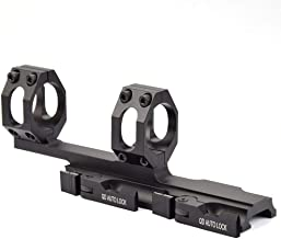 SAMTEC Dual Ring Scope Mount - Cantilever Scope Mount 1 inch/30mm with Quick Release, QD Offset Scope Mount for Picatinny Rail(Black)