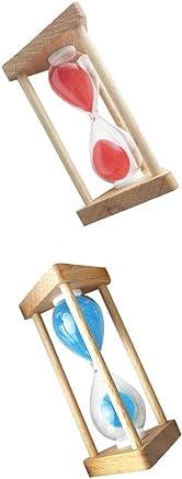 Perfk 10分 + 5分 木製 フレーム 砂時計 贈り物 家 装飾