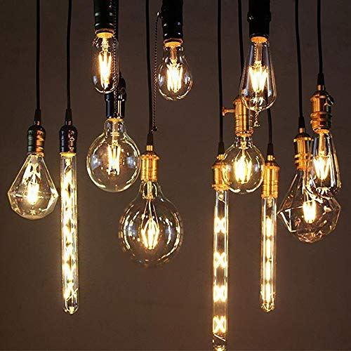 RZL LED Lights 4 pz 2W 4W 6W 8W 6W bianco retrò retrò luci a incandescenza LED Edison Bulb G40 G80 G95 ST64 A60 Vintage LED Lampada Lampada a LED Filamento Lampadina E27 220V luce (Wattage : T45 6W)