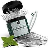 Naturschmiede® Premium Mentholkristalle für die Sauna 100g [Pharmaz.-Qualität] - Menthol Sauna Kristalle mit Eis Effekt - Eukalyptus Sauna Aufguss -...
