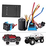Disipador de calor RC, motor 2300KV 3650, tarjeta de programa de disipador de calor ESC, duradero para SCX10 fácil de instalar TRX4
