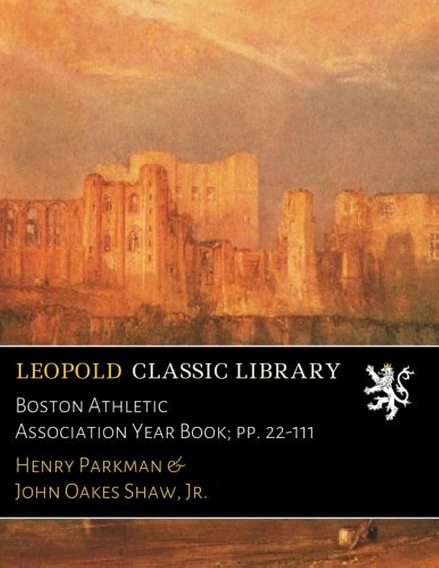 環境保護主義者遠洋の毛細血管Boston Athletic Association Year Book; pp. 22-111