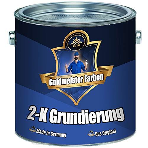 Goldmeister Farben 2-K Grundierung Wunschfarbton! Grau Weiß Rotbraun inkl. Härter im Set (20 L, Rotbraun RAL 8012)