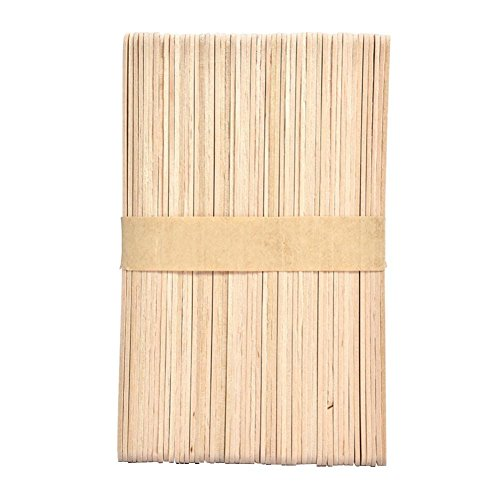 Gracefulvara 50pcs Medium Wooden Ice Cream Lolly Lollipop Sticks For DIY Manual Crafts