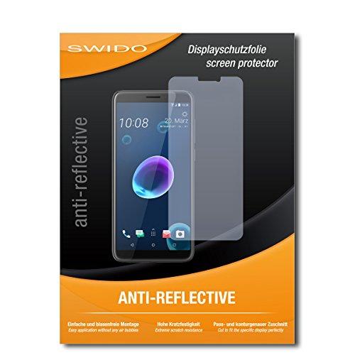 SWIDO Schutzfolie für HTC Desire 12 [2 Stück] Anti-Reflex MATT Entspiegelnd, Hoher Festigkeitgrad, Schutz vor Kratzer/Bildschirmschutz, Bildschirmschutzfolie, Panzerglas-Folie