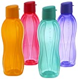 Tupperware Eco Sports Water Bottle Flip Top 1 Ltr 4pcs