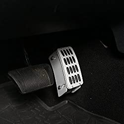 in budget affordable Jeep Wrangler 2007-2018 Hook Road Driver Adjustable Leg Pad Accelerator Pedal Extension Cover…