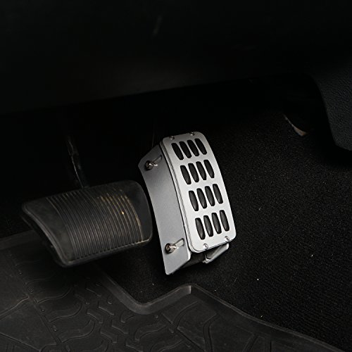 Hooke Road Gas Pedal Extender Cover Adjustable Driver Foot Rest Pad for 2007-2018 Jeep Wrangler JK & Unlimited