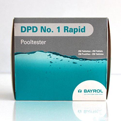 Bayrol DPD 1 RAPID (POOLTESTER) FORMATO 1 CAJITA 250 PASTILLAS