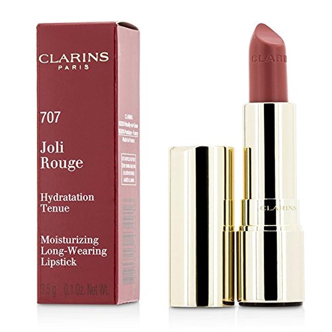 黙人気ネックレスクラランス ジョリールージュ(ロングウェアリングモイスチャライジングリップスティック) - # 707 Petal Pink 3.5g/0.12oz並行輸入品