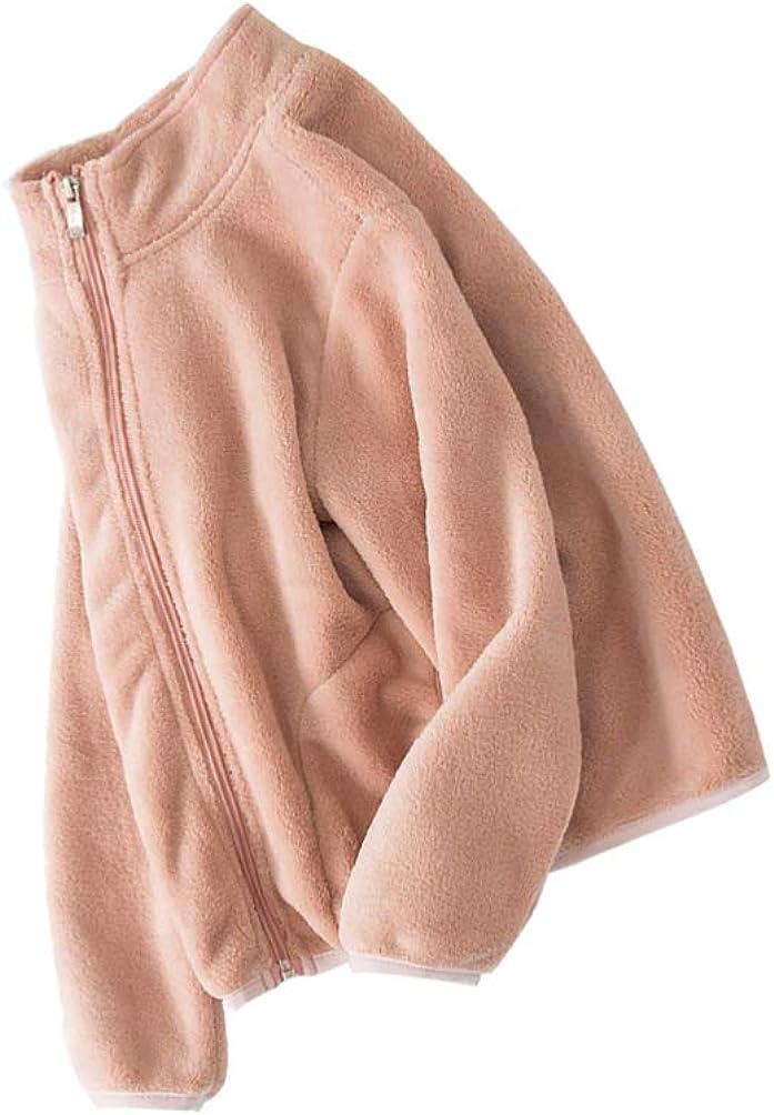 ABOOFAN Girls Fleece Fuzzy Coat Kids Sherpa Jacket Toddler Winter Warm Coat Full-Zip Polar Fleece Jacket for Girls Children