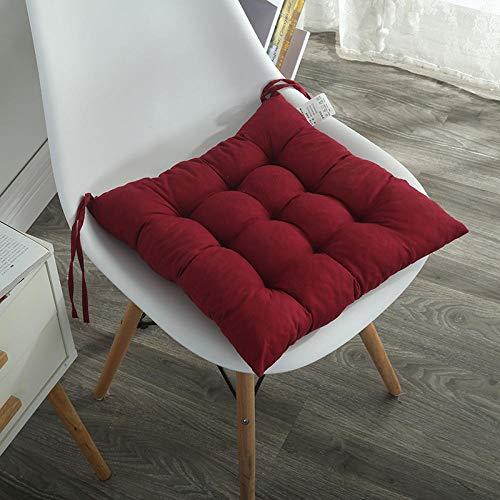 JKCTOPHOME Cojines de Asiento,Cojín Acolchado de Invierno para el hogar cojín de Silla de Oficina de Color sólido Simple-C_40 * 40cm,Almohadillas para sillas