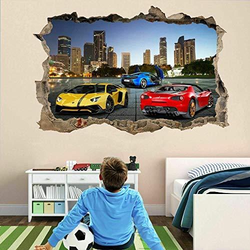 MXLYR Pegatinas de pared Arte de la impresión autoadhesiva del cartel de la etiqueta mural de la etiqueta de la pared del coche