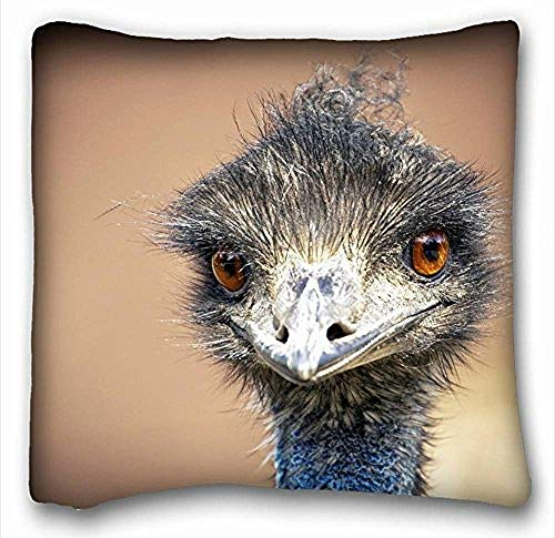 MLNHY Pillow Cover emu Bird Ostrich 18 in*18 Twin Sides