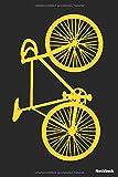 Notizbuch: Fahrrad gelb (liniert   100 Seiten)