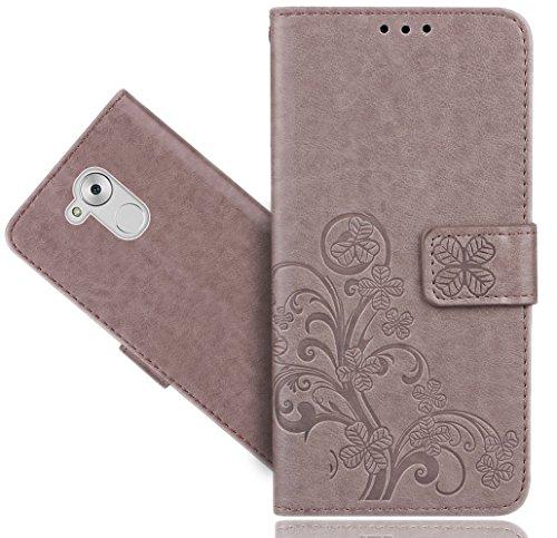Huawei Honor 6A Handy Tasche, FoneExpert® Blume Wallet Hülle Flip Cover Hüllen Etui Hülle Ledertasche Lederhülle Schutzhülle Für Huawei Honor 6A