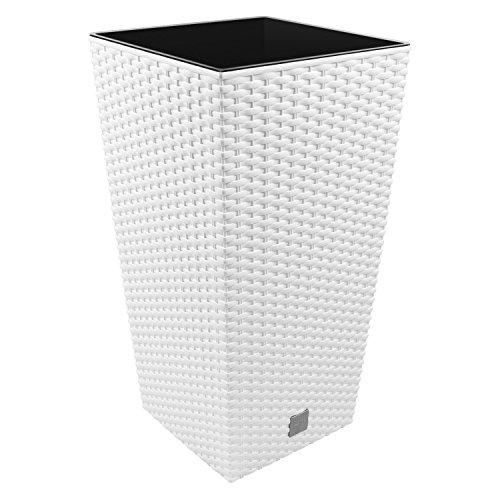 Prosper Plast Drts400-s449 40 x 40 x 75 cm Rato carré Pot de Fleurs – Blanc
