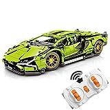 Foxcm Technik Sportwagen für Lamborghini, 1254 Teile Technic Ferngesteuert Auto Bausteine Modellbausatz Kompatibel mit Lego Technik