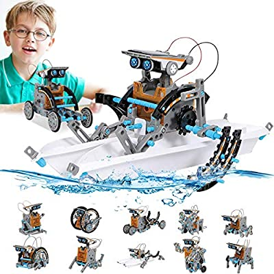 STEM Toy Solar Robot Kit 12-in-1 Learning Science Building Toy for Science kits 10 year old boys,Educational DIY Assembly Kit with Solar Powered,Robot Science Kits for Kids 10-12 Year Olds Boys Gifts