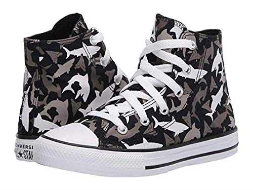 Converse Kids' Chuck Taylor All Star High Top Sneakers (Black/Sharks) - Size 11.0 M