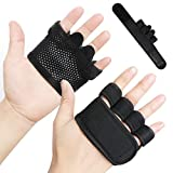 RYMNT Breathable Weight Lifting Gloves for Men Women, Lightweight Workout Gloves with Callus-Guard Grips. Perfect for Fitness Exercise, Cross Training, Weightlifting, Gym, WODs, Pull Up (Black,M)