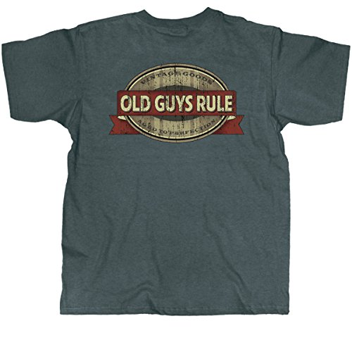 Old Guys Rule Mens Vintage Goods Aged To Perfect T-Shirt X-Large Charcoal