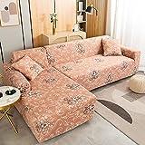 WXQY Funda de sofá elástica con Todo Incluido, Funda de sofá de Esquina en Forma de L, Funda de sofá con Envoltura hermética Antideslizante Funda de sofá A9 de 4 plazas