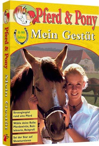 Mein Gestüt, CD-ROM Strategiespiel rund ums Pferd. Wähle deine Rolle: Pferdewirtin, Reitlehrerin, Reitprofi. Sei der Star auf den Showturnieren. Für Windows 98. ME, 2000, XP