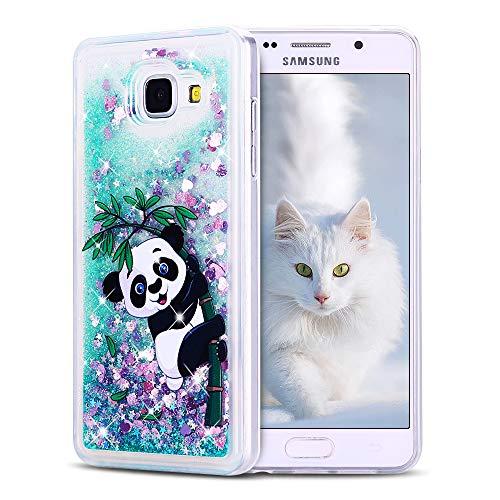 SpiritSun Funda para Samsung Galaxy A5 2016, Carcasa Transparente Líquido Bumper Tapa Silicona Case Flexible Gel TPU Bling Suave Protectora Caso [Shock-Absorción] [Anti-arañazos] Verde - Panda