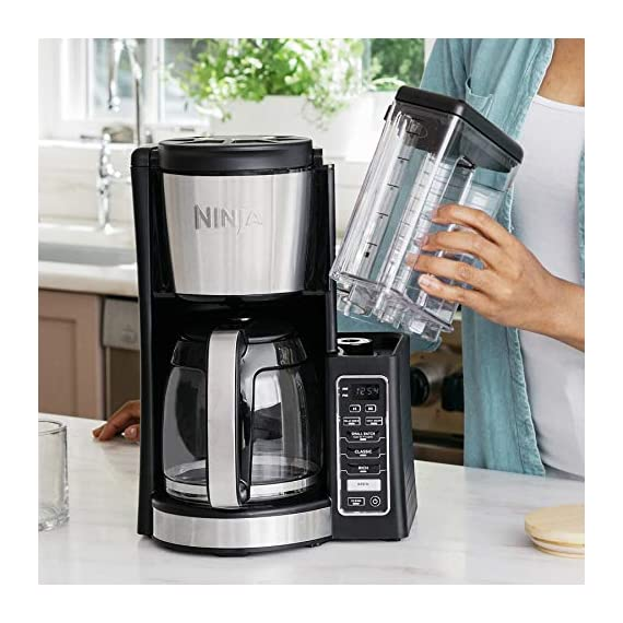 Ninja 12-Cup Programmable Coffee Maker with Classic and Rich Brews, 60 oz. Water Reservoir, and Thermal Flavor… 9 Hotter brewing technology: Advanced boiler for a perfectly hot cup of coffee Wake upto hot coffee 24 hour programmable delay brew allows you to prepare your brew upto a day in advance Keep coffee fresh and flavorful upto 4 hours with the adjustable warming plate