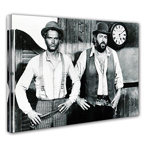 Terence Hill Bud Spencer Leinwand - Vier Fäuste für EIN Halleluja (60 x 40 cm)