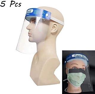 Exceart 2Pcs /Écran Facial de S/écurit/é Protection Compl/ète /Écran Facial Visi/ère Anti-Bu/ée Bouclier Transparent pour Hommes Femmes