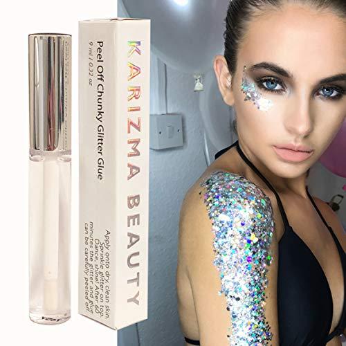 Cosmetic Glitter Glue // Peel Off Formula ✮ KARIZMA BEAUTY