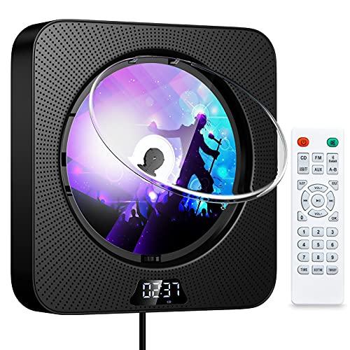 Gueray Tragbarer CD-Player mit Bluetooth...