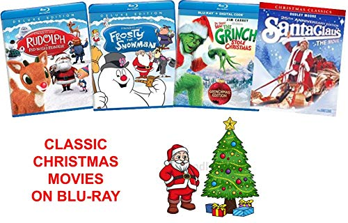 Classic Christmas Holiday Movies on Blu-Ray - Rudolph the Red-Nosed Reindeer / Frosty the Snowman / How the Grinch Stole Christmas / Santa Claus The Movie